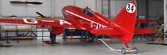 De Havilland DH88 Comet (G-ACSS) (Bri_J) Tags: shuttleworthcollection oldwarden bedfordshire uk museum airmuseum aviationmuseum nikon d7500 dehavilland dh88 comet gacss aircraft red panorama racer