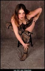 laura en leopard sexy (villatte.philippe) Tags: glamour sexy leopard cuissardes high boots decolleté studio flash girl pretty regard