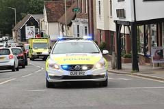Coming straight at me ! (AndrewHA's) Tags: bishopsstortford hertfordshire police volvo v60 d3 ou18brz car emergency 999 blue lights