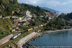 Isola bella (Stefano Praz Paolini) Tags: e652 tigre taormina isola bella sicilia merci fs ferrovie dello stato italia freight sicily electric loco