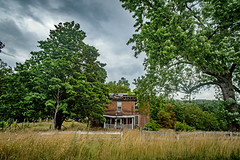 Green Valley Road House (Bob G. Bell) Tags: abandoned home house farm grass treesclouds bobbell nikon d750