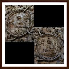 6 - Nancy - Église Saint-Sébastien, Façades, Détails (melina1965) Tags: lumix july panasonic nancy lorraine juillet 2019 grandest meurtheetmoselle dmctz57 collage mosaic collages mosaics mosaïque mosaïques sculpture sculptures façades façade church churches église églises