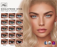 AG. Soulstrike Eyes (Avi-Glam) Tags: mesh eyes catwa omega genus appliers aviglam ag second life sl