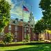 Legislative Hall & US flag (paint filter)