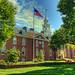 Legislative Hall & US flag