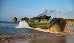 "U.S. Marines enter the water during a shore to ship training event at Camp Schwab, Okinawa (#PACOM) Tags: 3rdmarinedivision 3dmarinedivision 3rdmardiv 4thmarineregiment japan training marine marines marinecorps aav udp tactical campschwab assualtamphibiousvehicle usindopacificcommand ""usindopacom"