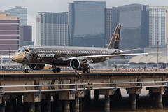 """Embraer E195-E2 PR-ZIQ """"Profit Hunter"""" 011 (A.S. Kevin N.V.M.M. Chung) Tags: aviation aircraft aeroplane airport airlines mfm spotting macauinternationalairport plane taxiway taxiing embraer erj e195 e195e2 erj190400std speciallivery profithunter"""