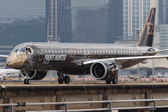 """Embraer E195-E2 PR-ZIQ """"Profit Hunter"""" 0102 (A.S. Kevin N.V.M.M. Chung) Tags: aviation aircraft aeroplane airport airlines mfm spotting macauinternationalairport plane taxiway taxiing embraer erj e195 e195e2 erj190400std speciallivery profithunter"""