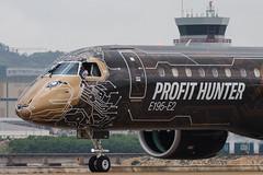 "Embraer E195-E2 PR-ZIQ ""Profit Hunter"" 016 (A.S. Kevin N.V.M.M. Chung) Tags: aviation aircraft aeroplane airport airlines mfm spotting macauinternationalairport plane taxiway taxiing embraer erj e195 e195e2 erj190400std speciallivery profithunter closeup cockpit nosegear"