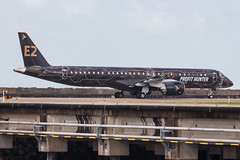"""Embraer E195-E2 PR-ZIQ """"Profit Hunter"""" 020 (A.S. Kevin N.V.M.M. Chung) Tags: aviation aircraft aeroplane airport airlines mfm spotting macauinternationalairport plane taxiway taxiing embraer erj e195 e195e2 erj190400std speciallivery profithunter"""