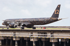 """Embraer E195-E2 PR-ZIQ """"Profit Hunter"""" 0181 (A.S. Kevin N.V.M.M. Chung) Tags: aviation aircraft aeroplane airport airlines mfm spotting macauinternationalairport plane taxiway taxiing embraer erj e195 e195e2 erj190400std speciallivery profithunter"""