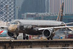 """Embraer E195-E2 PR-ZIQ """"Profit Hunter"""" 010 (A.S. Kevin N.V.M.M. Chung) Tags: aviation aircraft aeroplane airport airlines mfm spotting macauinternationalairport plane taxiway taxiing embraer erj e195 e195e2 erj190400std speciallivery profithunter beacon"""