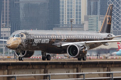 """Embraer E195-E2 PR-ZIQ """"Profit Hunter"""" 0101 (A.S. Kevin N.V.M.M. Chung) Tags: aviation aircraft aeroplane airport airlines mfm spotting macauinternationalairport plane taxiway taxiing embraer erj e195 e195e2 erj190400std speciallivery profithunter beacon"""