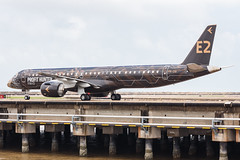 """Embraer E195-E2 PR-ZIQ """"Profit Hunter"""" 0171 (A.S. Kevin N.V.M.M. Chung) Tags: aviation aircraft aeroplane airport airlines mfm spotting macauinternationalairport plane taxiway taxiing embraer erj e195 e195e2 erj190400std speciallivery profithunter beacon"""