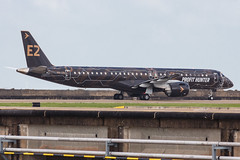 """Embraer E195-E2 PR-ZIQ """"Profit Hunter"""" 0201 (A.S. Kevin N.V.M.M. Chung) Tags: aviation aircraft aeroplane airport airlines mfm spotting macauinternationalairport plane taxiway taxiing embraer erj e195 e195e2 erj190400std speciallivery profithunter"""