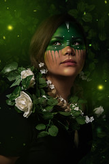 Earthen (Wurmwood Photography) Tags: nikon godox fovitec beauty face makeup nature earth photograph photography portrait creative green color colors colorful light lighting