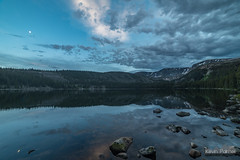 Twilight Calm (kevin-palmer) Tags: bighornmountains bighornnationalforest wyoming july summer cloudpeakwilderness backpacking nikond750 evening water sevenbrotherslakes sky clouds alpine twilight calm peaceful reflection mirror rocky samyang rokinon14mmf28