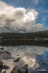 Reflected Storm Cloud (kevin-palmer) Tags: bighornmountains bighornnationalforest wyoming july summer cloudpeakwilderness backpacking nikond750 evening water sevenbrotherslakes sky clouds alpine reflection mirror rocky tamron2470mmf28