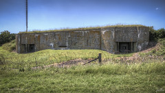 Casemate VI front (pe0s, Steven) Tags: apocalypse apocalyptic stalker war hrd bunker bunkers ww2 abandoned urbex fort fortress hidden casemate cannon kornwerderzand trench fisheye afsluitdijk 1933 kazematten