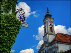 Bayern wie es leibt und lebt (Janos Kertesz) Tags: baroque bavaria church tourism religion historic architecture building tower europe old sky catholic blue facade kloster wirtshaus beer bier bräuerei brewery