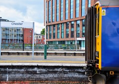 150xxx @ Chester (A J transport) Tags: class150 chester diesel dmu northern railway trains city nikkon d5300 dlsr sprinter blue england