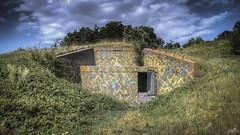 Casemate XVII entrance (pe0s, Steven) Tags: apocalypse apocalyptic stalker war hrd bunker bunkers ww2 abandoned urbex fort fortress hidden casemate cannon kornwerderzand trench fisheye afsluitdijk 1933 kazematten