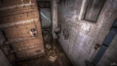 Casemate XIII hallway urinal (pe0s, Steven) Tags: apocalypse apocalyptic stalker war hrd bunker bunkers ww2 abandoned urbex fort fortress hidden casemate cannon kornwerderzand trench fisheye afsluitdijk 1933 kazematten