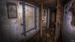 Casemate XIII hallway with rifle rack (pe0s, Steven) Tags: apocalypse apocalyptic stalker war hrd bunker bunkers ww2 abandoned urbex fort fortress hidden casemate cannon kornwerderzand trench fisheye afsluitdijk 1933 kazematten