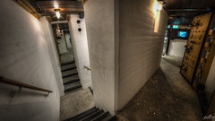Casemate VI stairs (pe0s, Steven) Tags: apocalypse apocalyptic stalker war hrd bunker bunkers ww2 abandoned urbex fort fortress hidden casemate cannon kornwerderzand trench fisheye afsluitdijk 1933 kazematten