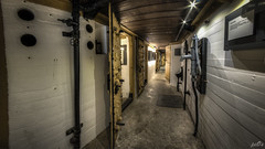 Casemate IV hallway (pe0s, Steven) Tags: apocalypse apocalyptic stalker war hrd bunker bunkers ww2 abandoned urbex fort fortress hidden casemate cannon kornwerderzand trench fisheye afsluitdijk 1933 kazematten