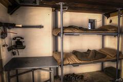 Casemate IV Bunk beds (pe0s, Steven) Tags: apocalypse apocalyptic stalker war hrd bunker bunkers ww2 abandoned urbex fort fortress hidden casemate cannon kornwerderzand trench fisheye afsluitdijk 1933 kazematten