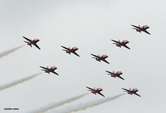 Red Arrows J78A0496 (M0JRA) Tags: red arrows duxford airshow vintage aircraft planes warbirds people sky clouds jets airfields props otts raf airforce flying helicopters legends