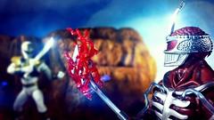 Hatred for the White Ranger (custombase) Tags: powerrangers lightningcollection lordzedd whiteranger white tiger tommy oliver diorama battle toyphotography