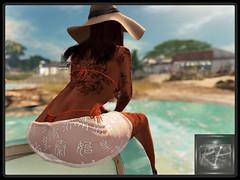 boattrip (RedPoison003) Tags: boat sea blue beach bikini ass butt swimwear hat sun amazing redpoison rapture maitreya catwa secondlife avata virtuell virtual 3d