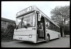 Dreamy Dart (adam.alcock) Tags: bus buses busrally wellingborough wellingboroughbusrally dart dennisdart dartslf dennisdartslf plaxton plaxtonpointer diamondcoaches rushden blackandwhite pentax pentaxmx ilfordfp4 n202nnj