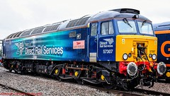 57307 @ Crewe (A J transport) Tags: 57307 class57 locomotive drs ladypenolope diesel railway trains nikkon d5300 dlsr railways train rain