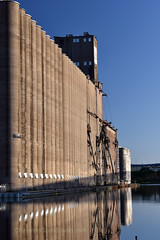 early morning calm (Patinagal) Tags: industry elevators concrete water industrial lakesuperior