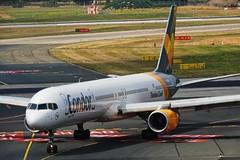 Condor D-ABOM (PlaneMadNews) Tags: dabom condor boeing 757 boeing757300 dusseldorf dus landing arrival de203 plane spotting planespotting