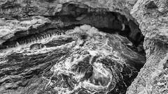 Guadeloupe (Gui.llau.me) Tags: noiretblanc blackandwhite mono monochrome gwada guadeloupe france antilles mer eau water shadow earth rock rocher nb bw sea ocean