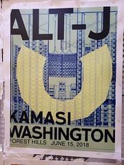 Alt-J Concert Poster (Joe Shlabotnik) Tags: sign wstc galaxys9 cameraphone june2018 2018 foresthillsstadium concert poster