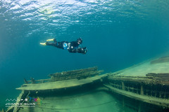 Extreme technical snorkelling (ScubaJo) Tags: tobermory underwaterphotography scubadiving fathomfivenationalpark scuba coldwaterdiving wreckdiving georgianbay lakehuron