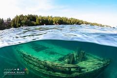 Wreck of the Sweepstakes (ScubaJo) Tags: tobermory underwaterphotography scubadiving fathomfivenationalpark scuba coldwaterdiving wreckdiving georgianbay lakehuron