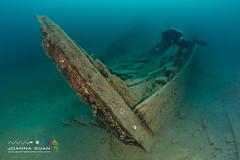 Wreck of the King - bow (ScubaJo) Tags: tobermory underwaterphotography scubadiving fathomfivenationalpark scuba coldwaterdiving wreckdiving georgianbay lakehuron