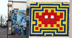 Space invader [Paris 11e] (biphop) Tags: europe france paris streetart wall mur installation mosaic mosaique space invader spaceinvader 75011 pa668 reactivation reactivated restored reactivé restauré