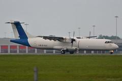 EI-SLX ASL Airlines ATR 72-200 EGSS 4/6/19 (David K- IOM Pics) Tags: egss london stansted airport stn ei eislx abr asl airlines atr atr72 72 72200 at72