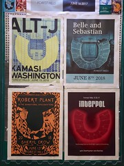 Forest Hills Stadium Concert Posters (Joe Shlabotnik) Tags: sign wstc galaxys9 cameraphone june2018 2018 foresthillsstadium concert poster