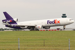 N602FE (GH@BHD) Tags: n523fe mcdonnelldouglas douglas md11 md11f fedex fedexexpress londonstanstedairport stanstedairport stn egss stansted fdx fx freighter cargo aircraft aviation airliner trijet