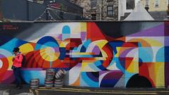 New art at Pump Lane. (mcginley2012) Tags: mural shaneomalley streetart street colour pattern geometric abstract irishgraffiti galwaygraffiti art ireland galway