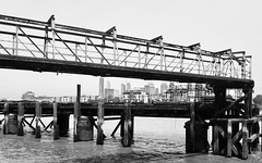 Unexpected Isle of Dogs #1 (Davoski) Tags: river thames london deptford riverscape monochrome blackwhite isleofdogs