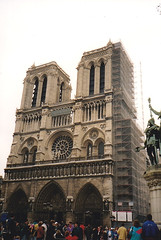 Notre Dame - 1992 (John Steam) Tags: paris notre dame 1992 ostersonntag frankreich kathedrale kirche gotisch quasimodo glöckner